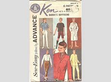 c 1962 Advance 2899 Ken wardrobe Vintage Sewing