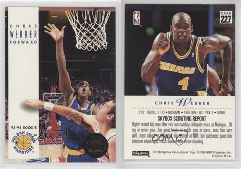 Check spelling or type a new query. 1993-94 Skybox Premium 227 Chris Webber Golden State Warriors RC Basketball Card   eBay