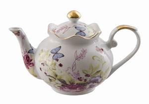 DL533 Porcelain Butterfly Teapot Floral Container
