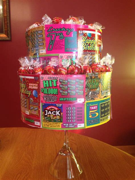 lottery ticket lindt chocolate cake diy birthday gift