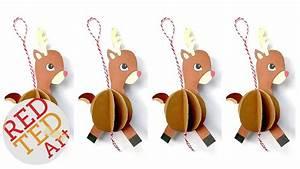 Easy Paper Reindeer Ornament Diy