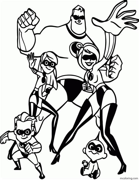 disney incredibles coloring pages coloring home
