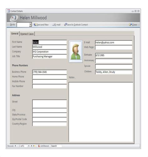 contanct detailes template access inventory templates 16 free sle exle