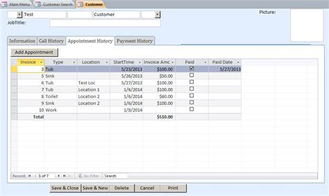 payment form template microsoft access escalator appointment tracking database
