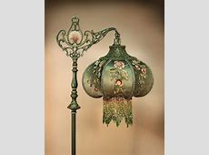 Such a lovely Victorian lamp with beaded fringe lamp shade