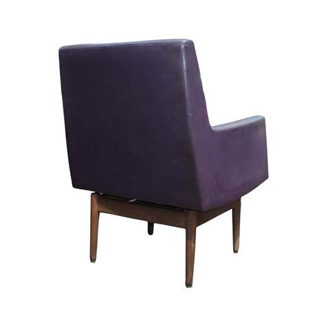 2 jens risom walnut swivel lounge arm chairs ebay