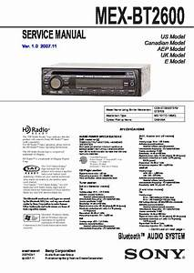Sony Mex-bt2600 Service Manual