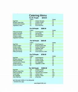 29 catering menu templates free sample example format for Catering menus templates