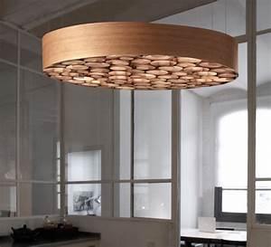 Luminaire Fait Maison : suspension spiro bois naturel de cerisier 96cm lzf ~ Melissatoandfro.com Idées de Décoration