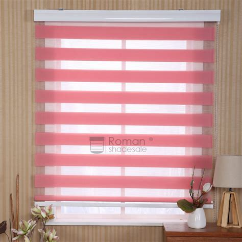 pink polyester beautiful window roller shade