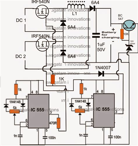 Hybrid Solar Wind Battery Charger Circuit