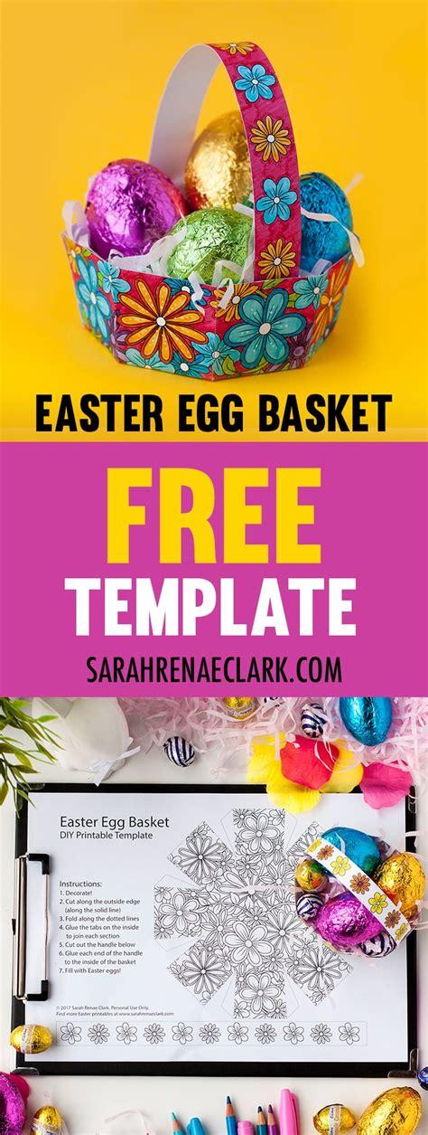 easter egg basket  template sarah renae clark coloring book artist