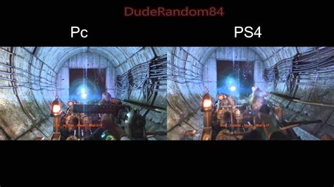 Metro 2033 Redux Ps4 Vs Pc Side By Side Graphics