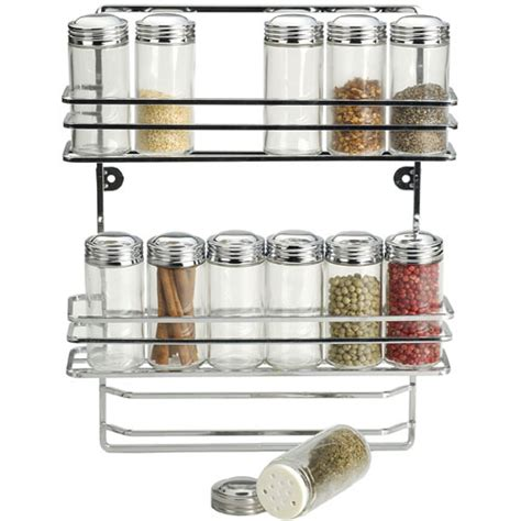hanging spice rack hanging chrome spice rack and glass bottles in spice racks
