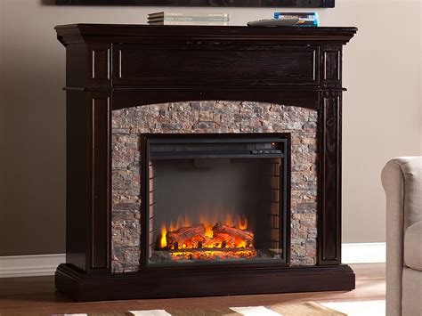 Grantham Ebony Electric Fireplace Media Cabinet