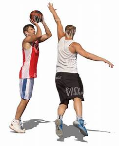 two men playing basketball - cut out people - VIShopper