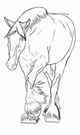 Coloring Horse Pages Clydesdale Deviantart Drawings Lineart Sheets Horses Drawing Arabian Head Adult Pencil Sketches Animal sketch template