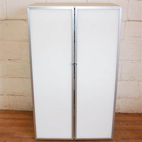 Aluminum Cupboard by Glass Door Cupboard White Aluminium 5057 Allard Office