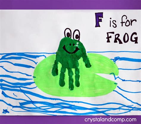 print f is for frog 763 | Hand Print Art F is for Frog 1