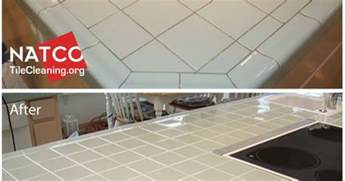 regrouting a kitchen tile countertop with green tiles re grouting re caulking