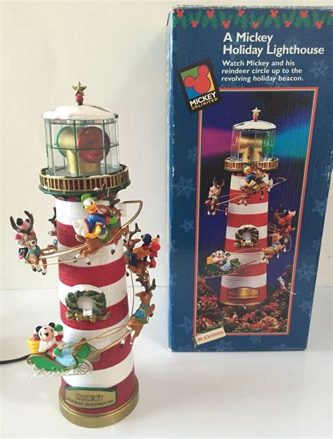 lighthouse tree toppers disney mr mickey s lighthouse decoration tree topper w lights ebay