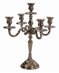 5 Armiger Kerzenleuchter : kerzenst nder 5 armiger kerzenleuchter 35cm silber leuchter kandelaber ~ Frokenaadalensverden.com Haus und Dekorationen