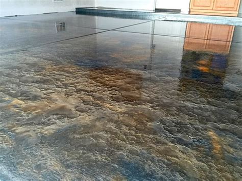 brown gold metallic epoxy floor   Metallics and Epoxy