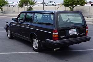 Black 1990 Volvo 240 Wagon