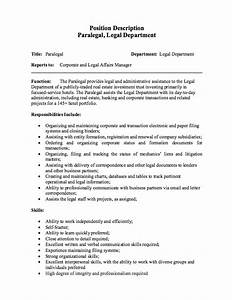 paralegal job description resume http resumesdesign With free resume job descriptions