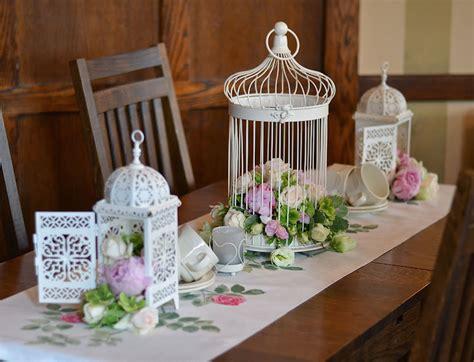 Vintage Bird Cage With Stand, Wedding Lantern Centerpiece