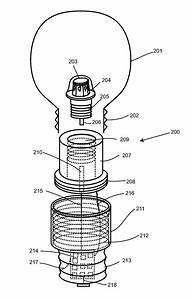 Patent us light bulb utilizing a replaceable led