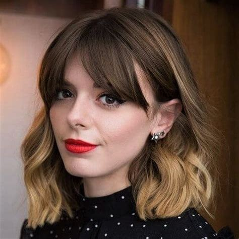 Curtain Types of Bangs in 2020 Short hair with bangs