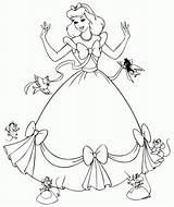 Coloring Colouring Dresses sketch template