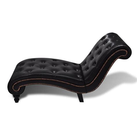 chaise chesterfield chesterfield brown chaise lounge button tufted vidaxl com