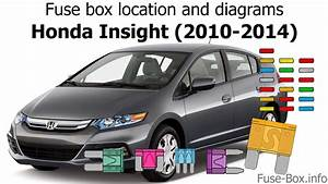 Fuse Box Location And Diagrams  Honda Insight  2010-2014
