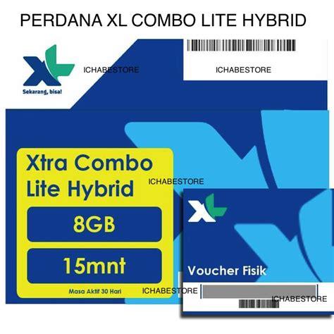 xl kartu perdana 8gb xtra combo lite hybrid shopee indonesia