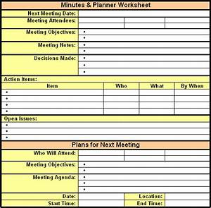 6 meeting minutes templates excel pdf formats for Taking minutes in a meeting template