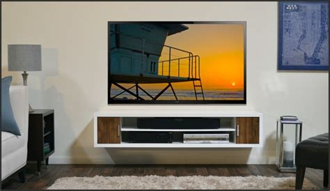 giant modern wall mounted tv shelves ideas with table l