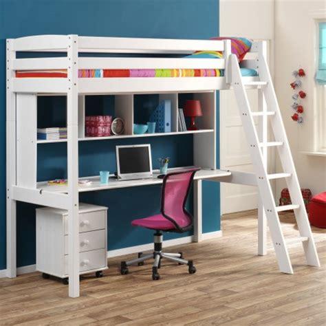 lit mezzanine fille avec bureau lit superpose avec bureau pour fille visuel 8
