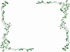 Green Vine Border Clip Art at Clker.com - vector clip art ...