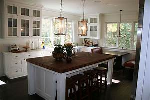Butcher Block Kitchen Island Ideal Table Linens To Perfect The Room