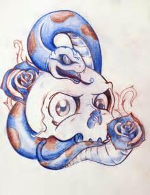 New School Skull Tattoo Designs Drawings