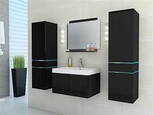 ensemble naomi a leds meubles de salle de bain laque With ensemble de meuble de salle de bain