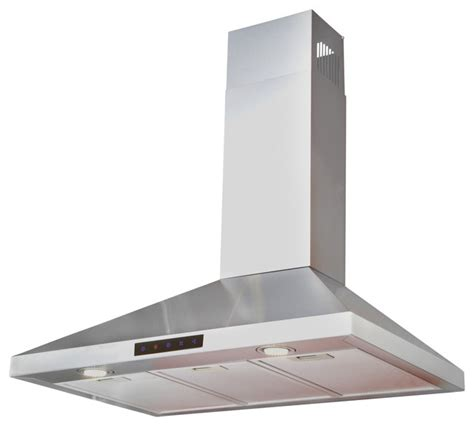 kitchen hoods stainless steel wall 30 quot contemporary range