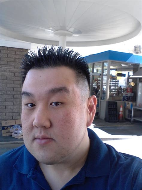 typical asian haircut      style