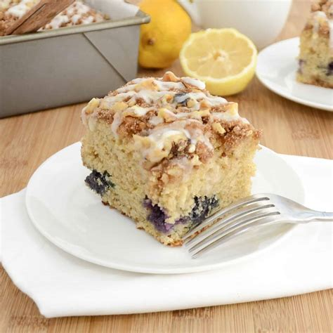 Lemon blueberry cake is often paired with a cream cheese frosting, but i wanted something a little different. Lemon Blueberry Coffee Cake Recipe - Sweet Pea's Kitchen