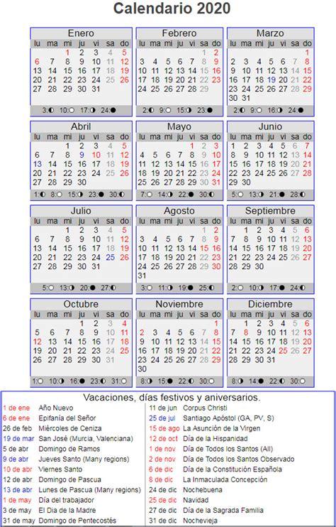 calendario laboral ano en espana