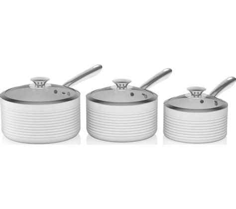 tower tw  piece  stick saucepan set white safest cookware cheap cookware cookware