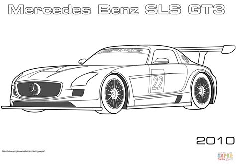 mercedes benz sls gt coloring page  printable