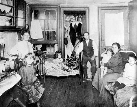 family living in a one room tenement slum new york city